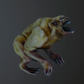 Low-poly model of the character Monster_Hellhound