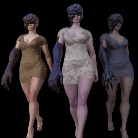 Low poly character model for your games of different genres