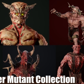 Collection of models of Monster Mutant. By instructing the assembly you save at least 20% of your **investment.**
