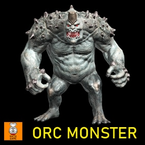 """Game Monster Model """"Orc Boss"""""""