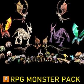 """Game Monster Model """"RPG PACK V1"""""""
