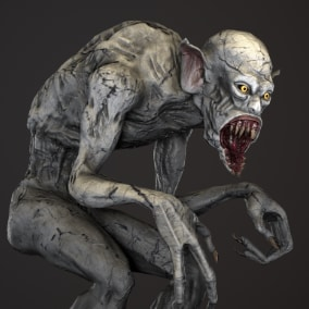 Creepy monster for your project.