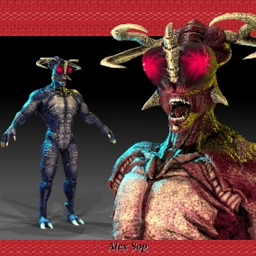 Great scary monster. If you make a horror, RPG, shooter game, then these character are perfect for your project.