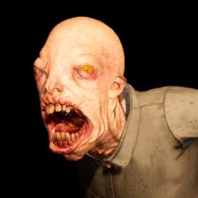 Horror female monster model with facial morphs and epic skeleton