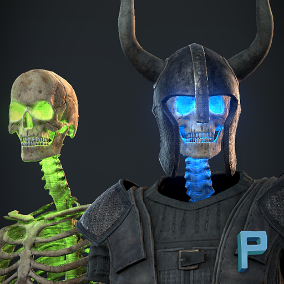 Realistic Skeleton with 18 animations ready to use in your game!