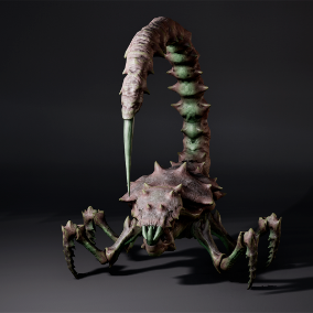 Monster with sting , low poly model