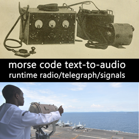 Blueprint actor translates regular text into Morse-code and emits it as audio, offering five adjustable soundscapes to simulate various types of radio transmissions, operators, and telegraph equipment.