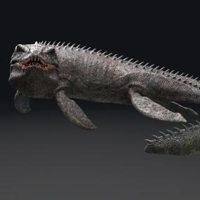 Mosasaurus - Sea Monster Series 4 , 49 Animations