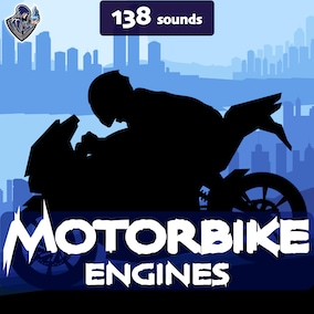 A sound package of motorbike engines with 138 sound effects, designed in a realistic style.