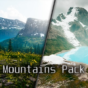 This pack contains two fully playable 400km2 landscapes, entirely created from real-world satellite data.