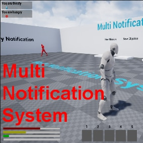 A Notification System with stats, inventory and enemy AI.