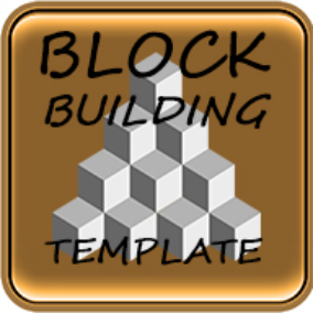 Complete template with multiplayer block building system