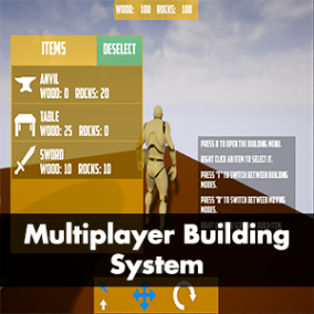 An easy to use Multiplayer Building System that can fit any kind of game.
