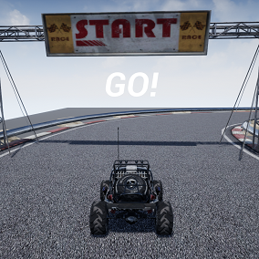 Template comprised of hosting/joining races, car selection menu, cars with special abilities and race progress logic.