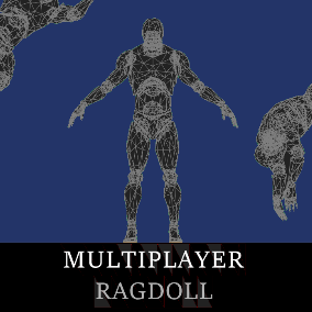 Fully replicated ragdoll system, with pose-matching on all clients, as component easily can be attached to any character.