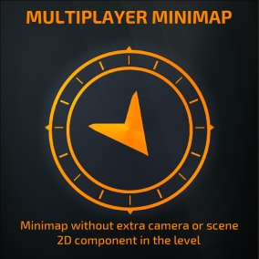 Minimap without extra camera or scene 2D component in the level