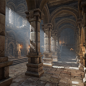 Package contains over 350 models to build stylized dungeons for top-down and first-person games.