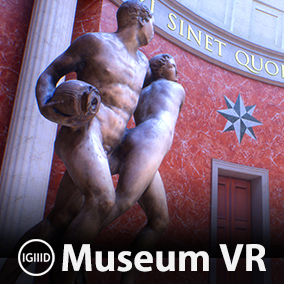 Virtual museum environment filled with 13 photo-scanned works of ancient art.