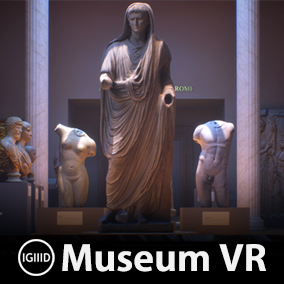Virtual museum environment filled with 82 photo-scanned works of ancient art, originating from various parts of the world.
