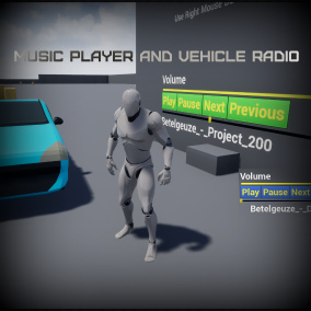 Includes two music players and GTA style vehicle radio system