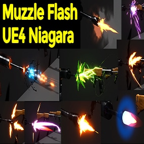 Muzzle Flash in UE4 Niagara