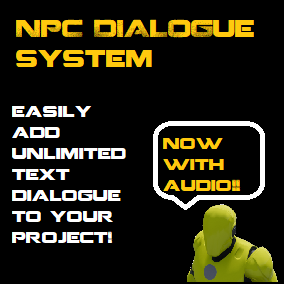 With this asset you can add text and Dialogue, simple quest management, popup conversations, and message popups easily and quicklyauidio