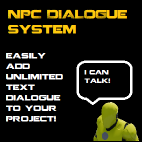 With this asset you can add text Dialogue, simple quest management, popup conversations, and message popups easily and quickly
