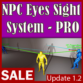 This system uses points on the actor's skeletal mesh to pinpoint the actor. For example, the entire character can be behind a wall but part of his hand will look out from around the corner, then the NPC Eyes System will find him.