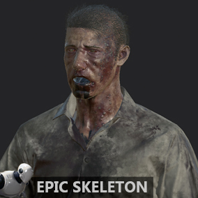 Zombie Man with animations