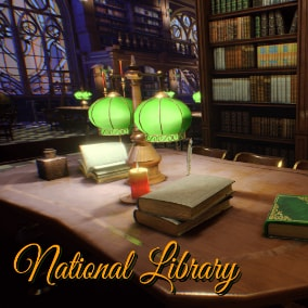 National Library pack includes a modular Library with 63 models and a complete scene.