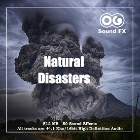 This SFX pack contains an impressive 512 Mb for a total of over 50 minutes of Natural Disaster Sounds such as Earthquakes, Volcanoes, Tsunamis, Avalanches, hurricanes and so on.