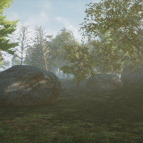 Pack of realistic Tree and Rock for forest and urban spaces