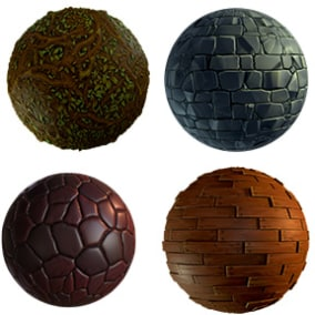 Nature Stylized Materials Pack with 10 stylish materials