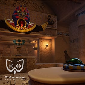 A set of over 243 PBR textured modular building pieces and props to create a stylized ancient Egyptian tomb.