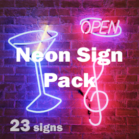 Set of 23 Neon Signs with color and brightness customization
