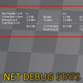 Shows stats about your network connection (only for Multiplayer)