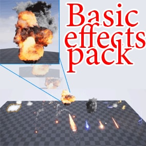 A pack of 24 basic effects for games and cinematics. Cheaper to buy than to make your self