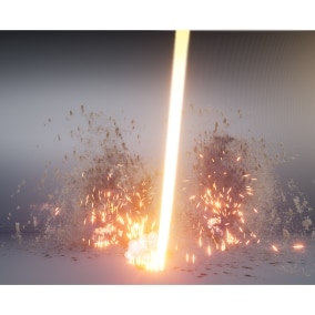 Granular based niagara explosion vfx packed