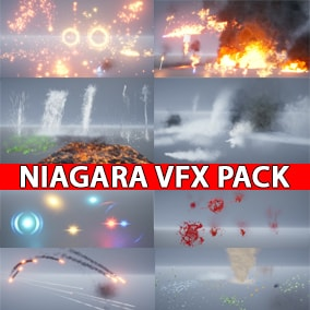 A Niagara Realistic Starter VFX Pack for starting or creating your own project not from scratch using new Niagara System.