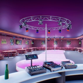 Nightclub  for your VR or other project.