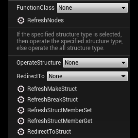 One-click refresh structure nodes and function nodes.