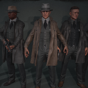 Set of Noir characters. You can choose from 7 predefined versions or use provided parts to create your own combination.