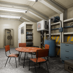 Nuclear Bomb Shelter this is complete modular level for you game. Perfect for VR, or any kind of AAA games.