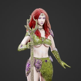 Low poly, game ready, rigged, PBR textures. Include nude body mesh.