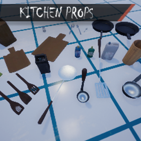 Collection of kitchen items for your project