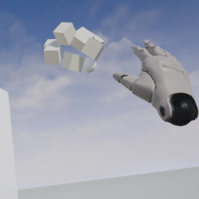 The basic VR project extended with levitation
