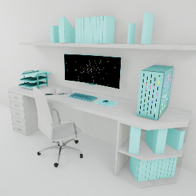 All you need to create a working office environment, a wide range of fully customizable desks with computers, shelves and cabinets, can make office drawers and cabinet doors static or movable in games , All with high quality and low polygon