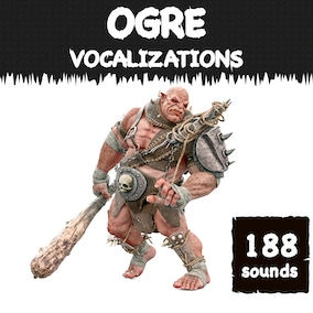 A ogre vocalization sound library with 188 high-quality big-monster sound effects, ready for use in the video game and trailer.