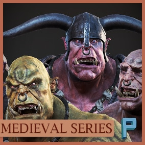 AAA quality Ogres ready to use in your game. VR ready!