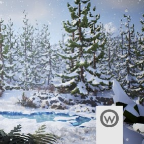 Beautiful asset package for design abeto forest environments